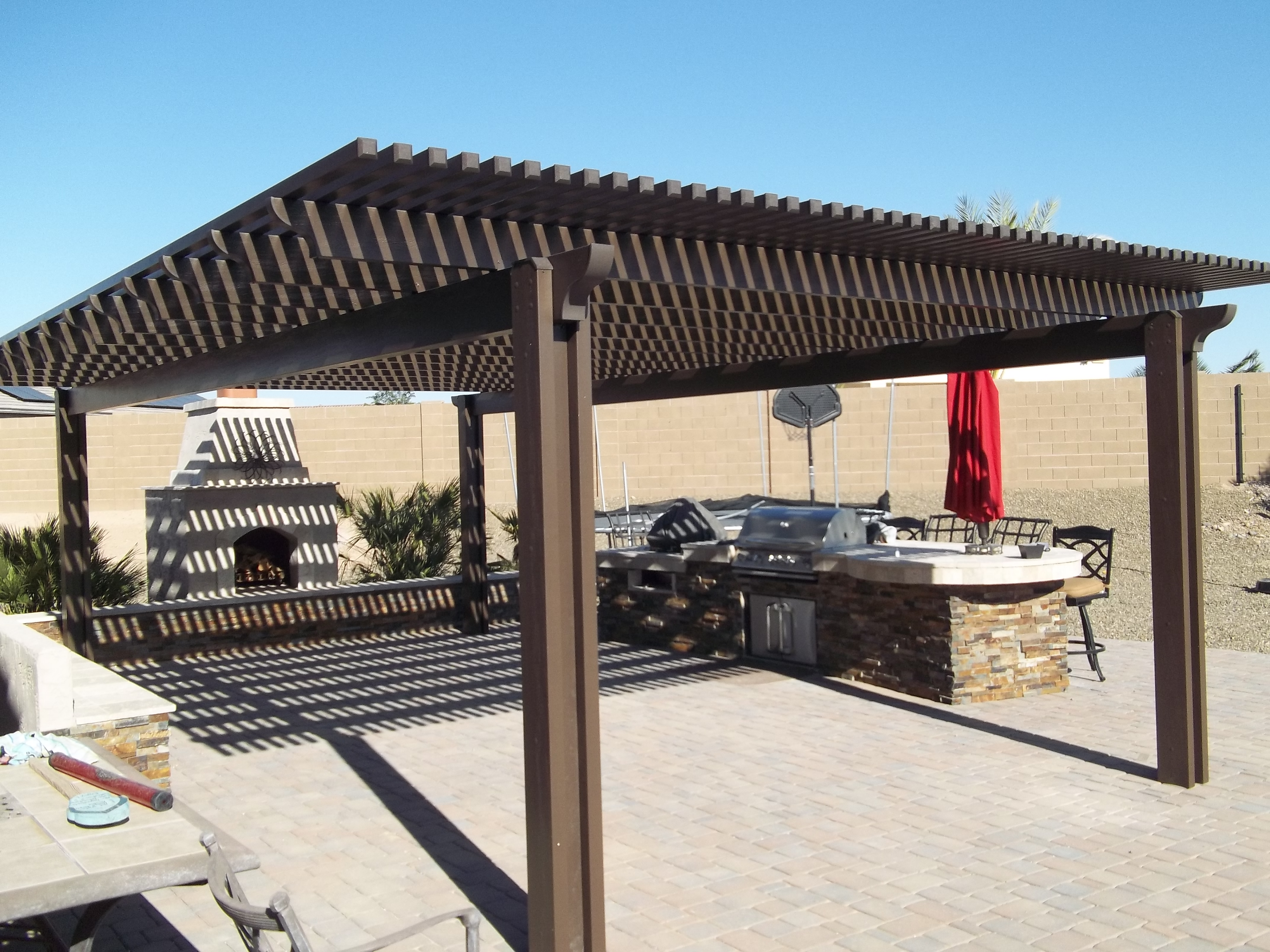 ... Lattice Patio Cover ...